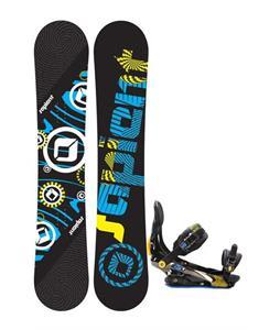 Sapient Cog Snowboard 153 2014 w/ Rome S90 Snowboard Bindings