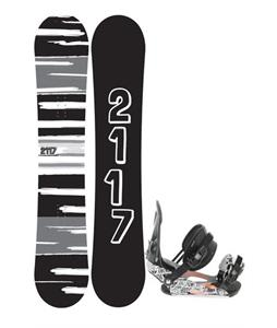 2117 Of Sweden Fader Snowboard 154 2014 w/ Ride LX Snowboard Bindings