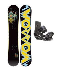 Morrow Truth Snowboard 155 w/ Sapient Fusion Snowboard Bindings