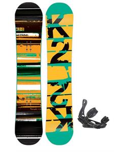 K Two Playback Wide Snowboard with Burton P One Point OneSnowboard Bindings