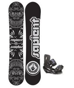 Sapient Outlaw Snowboard 154 2014 w/ Sapient Fusion Snowboard Bindings