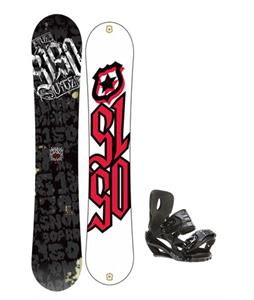 5150 Vice Wide Snowboard 159 w/ Sapient Stash Snowboard Bindings