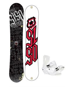 5150 Vice Wide Snowboard 163 w/ Sapient Zeus Snowboard Bindings