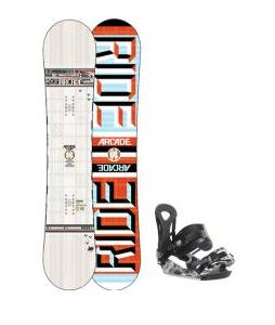 Ride Arcade UL Snowboard w/ Ride LX Snowboard Bindings