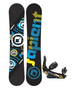 Sapient Cog Snowboard with Rome S Ninty Snowboard Bindings