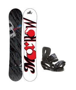 Morrow Fury Wide Snowboard 163 w/ Sapient Stash Snowboard Bindings