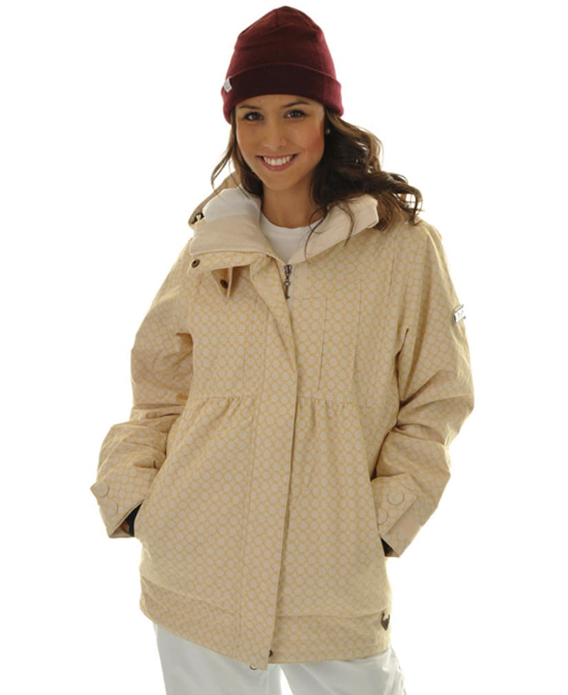 Shop for Roxy Tram Snowboard Jacket Dandelion/White - Women's