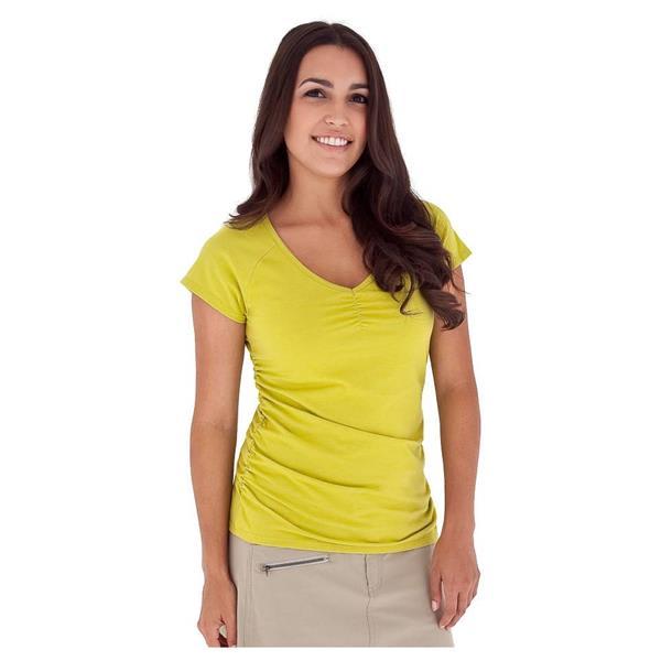 Royal Robbins Essential Ruched V-Neck Shirt