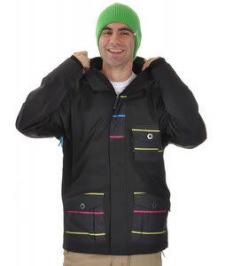 Sessions Concept Snowboard Jacket Neon Pop Stripe
