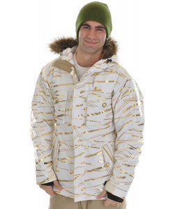 Sessions Premise Snowboard Jacket White Zip It