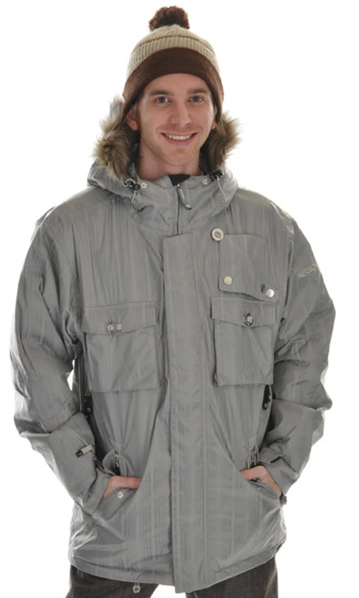 Shop for Sessions Premise Snowboard Jacket Silver - Men's