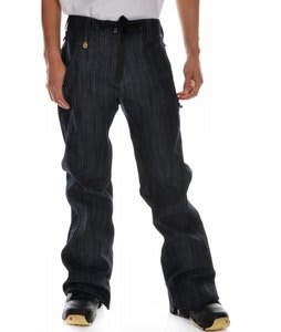 Sessions Brawl Snowboard Pants Ink Blue Denim