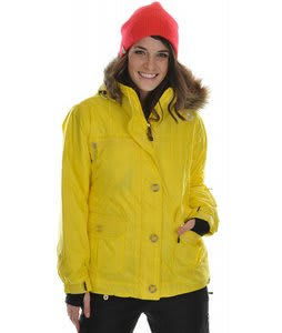 Sessions Dynamite Snowboard Jacket Citron Dobby Stripe