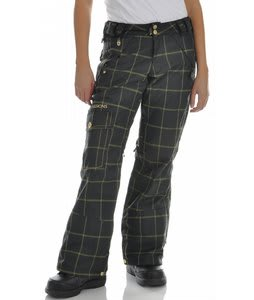 Sessions Smash Snowboard Pants Black Window Plaid