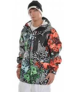 Analog Render Snowboard Jacket Flora Print Green