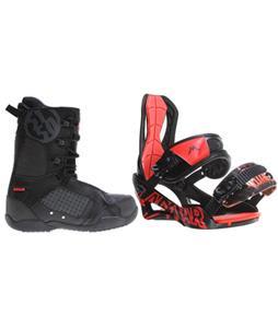 Lamar Wrap Snowboard Bindings w/ 5150 Squadron Snowboard Boots