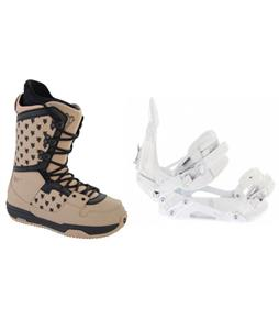 Ride EX Snowboard Bindings w/ Burton Shaun White Collection Snowboard Boots