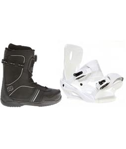 Sapient Zeus Snowboard Bindings w/ Morrow Kick BOA Snowboard Boots