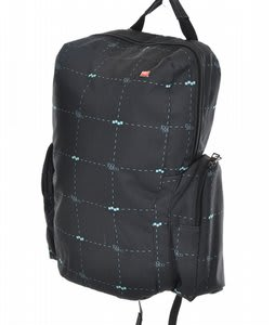 Foursquare Link Backpack Black Logo Grid