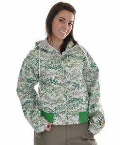 Special Blend Find Jacket Green Flower Power