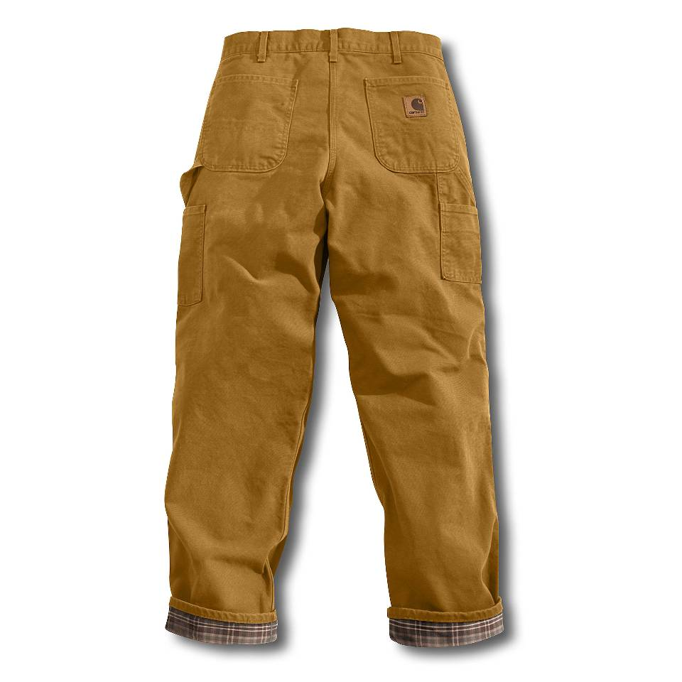 On Sale Carhartt Washed Duck Work Flannel Lined Pants Up