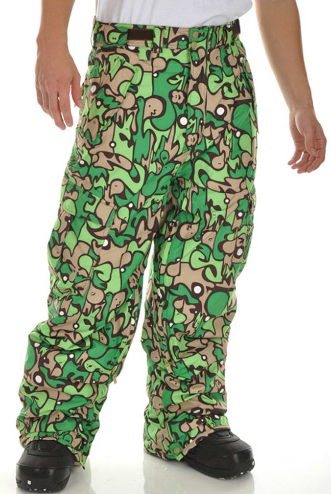 Shop for Special Blend Mark Snowboard Pants Green Fader Flage - Men's