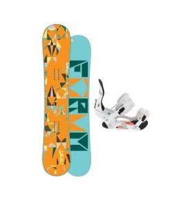 Forum Craft Snowboard with Ride LXH Snowboard Bindings