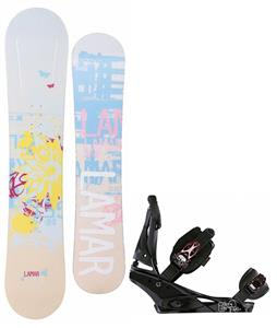 Lamar Foxie Snowboard w/ Burton Escapade Bindings
