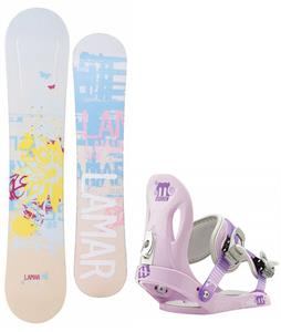 Lamar Foxie Snowboard w/ Morrow Slider Bindings