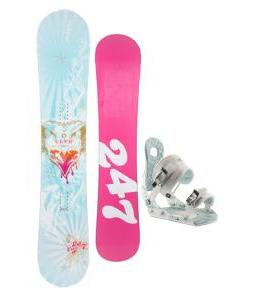24/7 Fawn Snowboard w/ Ride LXH Bindings