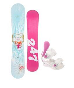24/7 Fawn Snowboard w/ Avalanche Serenity Bindings