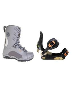 Morrow Invasion Snowboard Bindings with Lamar Force Snowboard Boots