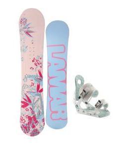 Lamar Merlot Snowboard w/ Ride LXH Bindings
