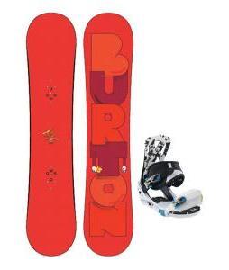 Burton Super Hero Smalls Snowboard w/ Burton Mission Smalls Bindings