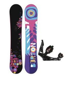 Burton Feather Wide Snowboard w/ Burton Escapade Bindings