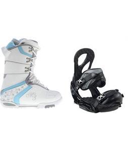 M3 Cosmo Snowboard Boots w/ Burton Stiletto EST Bindings