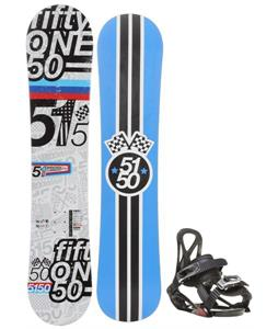 5150 Shooter Snowboard w/ Sapient Prodigy Bindings
