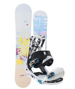 Lamar Foxie Snowboard w/ Burton Mission Smalls Bindings