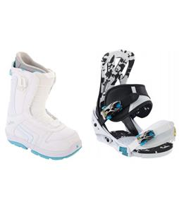 Burton Mission Smalls Snowboard Bindings with Burton Emerald Smalls Snowboard Boots