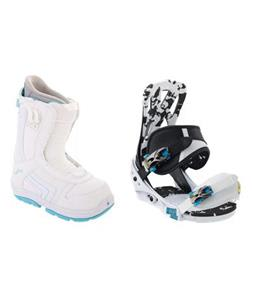 Burton Mission Smalls Snowboard Bindings w/ Burton Emerald Smalls Snowboard Boots