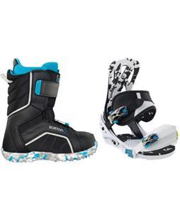 Burton Mission Smalls Snowboard Bindings w/ Burton Zipline Snowboard Boots
