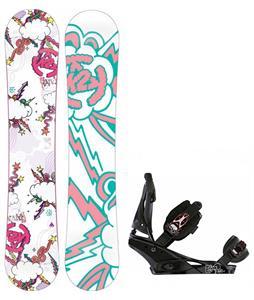 K2 Lil Kandi Snowboard w/ Burton Escapade Bindings