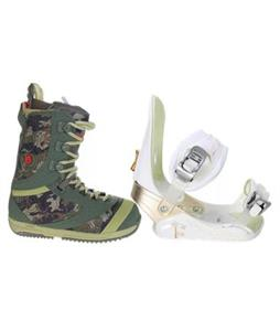 Burton Sapphire Boots with Morrow Lotus Snowboard Bindings