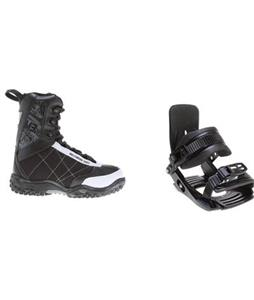 Salomon Team Snowboard Bindings w/ M3 Militia Jr Snowboard Boots