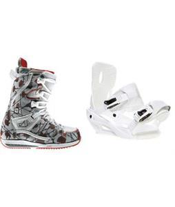 Burton Sapphire Snowboard Boots with Sapient Zeta Snowboard Bindings