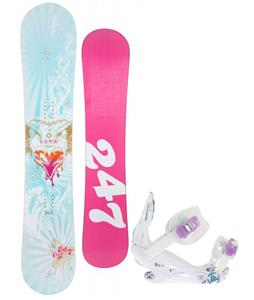 24/7 Fawn Snowboard w/ K2 Two Kat Bindings
