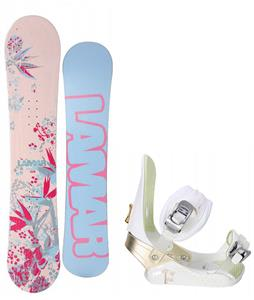 Lamar Merlot Snowboard w/ Morrow Lotus Bindings