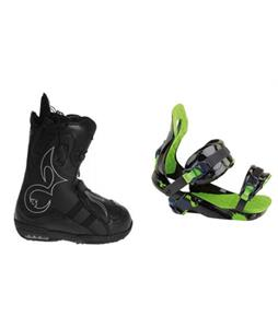 Burton Iroc Snowboard Boots with Rossignol Justice Snowboard Bindings