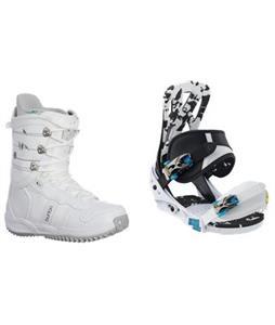 Burton Mission Smalls Snowboard Bindings w/ Burton Lodi Snowboard Boots