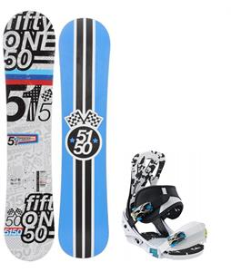 5150 Shooter Snowboard w/ Burton Mission Smalls Bindings